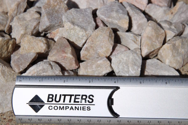 "1-1/2"" Gravel (Structural Rock – Quartzite) fractured metamorphic rock composed of quartz"